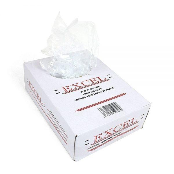 "12x18/"" HD White Poly Counter Bags 1000//Box"